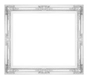 Antique gray frame isolated on white background, clipping path.  Royalty Free Stock Photos