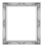 Antique gray frame isolated on white background, clipping path.  Stock Photos