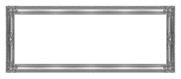 Antique gray frame isolated on white background, clipping path.  Royalty Free Stock Image