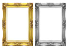 Antique gray and gold frame Royalty Free Stock Photo