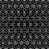 Lattice flowers seamless texture pattern. Antique greek anphor flower decoration outline in a black background. Lattice wrapping paper Royalty Free Stock Photography