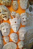 Antique greek masks in Plaka Royalty Free Stock Photos
