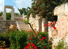 The antique greek style design in  garden Royalty Free Stock Image