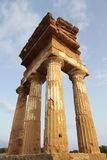 Antique greek temple in Agrigento, Sicily Royalty Free Stock Images