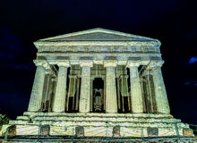 Antique greek temple of Concordia in the Valley of Temples, Agrigento, Sicily, Italy Royalty Free Stock Photography