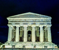 Antique greek temple of Concordia in the Valley of Temples, Agrigento, Sicily, Italy Royalty Free Stock Images