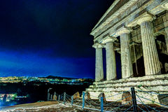 Antique greek temple of Concordia in the Valley of Temples, Agrigento, Sicily, Italy Royalty Free Stock Image