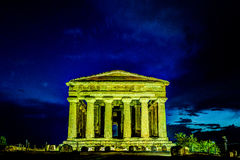 Antique greek temple of Concordia in the Valley of Temples, Agrigento, Sicily, Italy Royalty Free Stock Photos