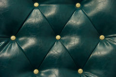 Antique green leather and Button sofa Royalty Free Stock Images