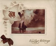 Antique greeting card Stock Photography