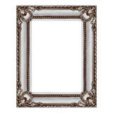 antique grey wooden frame isolated on white Stock Images