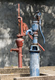 Antique groundwater pumping Stock Image