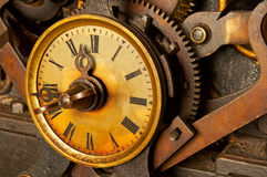 Antique grunge clock Stock Photography