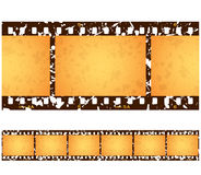 Antique Grunge Filmstrip Frames. Six (6) numbered frames of a repeating antique grunge filmstrip Royalty Free Stock Photography