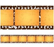 Antique Grunge Filmstrip Frames. Six (6) numbered frames of a repeating antique grunge filmstrip vector illustration