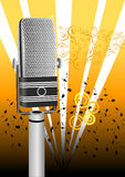 Antique grunge microphone Stock Image