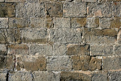 Antique grunge old gray stone wall masonry Royalty Free Stock Photography