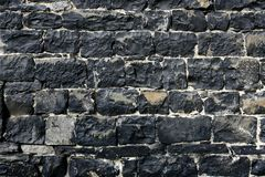 Antique grunge old gray stone wall masonry Royalty Free Stock Images