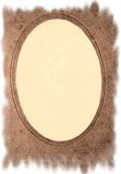 Antique,grunge,sepia frame. An antique style, paper photo frame with torn edges Stock Image