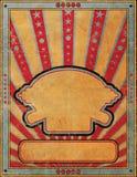Antique Grunge Style Handbill Flier Poster Template Stock Images