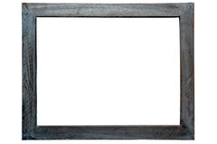 Antique Grunge Wood Picture Frame Isolated Royalty Free Stock Photo