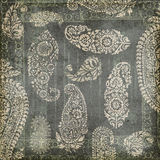 Antique Grungy Vintage paisley indian background Stock Photography