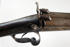 Antique Gun Details. Close up of trigger and hammer of antique gun Royalty Free Stock Image