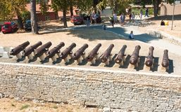 Antique guns. Pula. Croatia Stock Photo