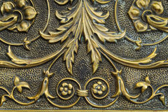 Antique Hammered Brass Tray Royalty Free Stock Photo