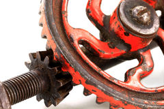 Antique Hand Drill Pinion - macro photo. Royalty Free Stock Photography