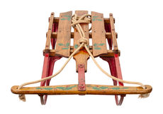 Antique hand painted sled Stock Photo