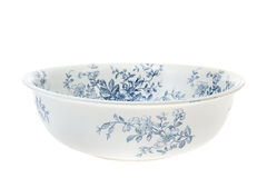 Antique hand painted washbowl isolated Royalty Free Stock Photography