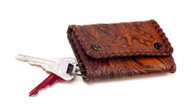 Antique handbag for key macro Royalty Free Stock Image