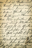 Antique handwriting letter. Grunge paper background Stock Photos