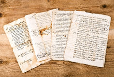 Antique handwritings Royalty Free Stock Photo