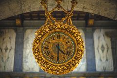 Antique Hanging Clocks stock images