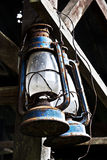 Antique hanging oil lamp Stock Photography