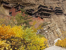 Antique hanging temples located near the  Datong Royalty Free Stock Photos