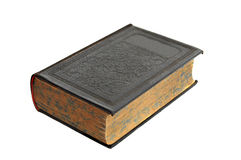 Antique Hardcover Book isolated on Royalty Free Stock Photo