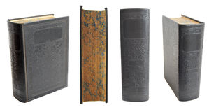 Antique Hardcover Books Stock Images