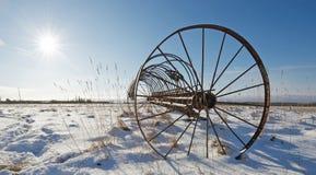 Antique hay rake. Stock Photo