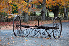 Antique Hay Rake in Fall Royalty Free Stock Photos