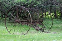 Antique Hay Rake stock photos
