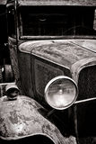 Antique Headlight on Beat Up Old Pick Up Truck stock photos