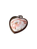 Antique Heart. Closeup of antique locket heart Stock Image