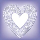 antique heart lace Arkivbild