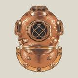 Diving helmet vector illustration vector illustration