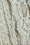 Antique heirloom lace. Various vintage laces shown in detail Royalty Free Stock Image
