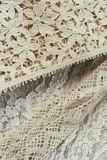 Antique heirloom lace. Stock Photo