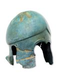 Antique helm. Genuine antique helm, brass made Royalty Free Stock Photos